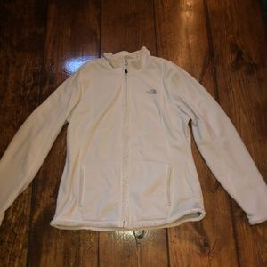 Cream north face jacket